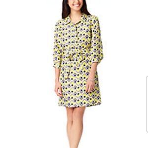 Kate Spade deco felicity silk dress